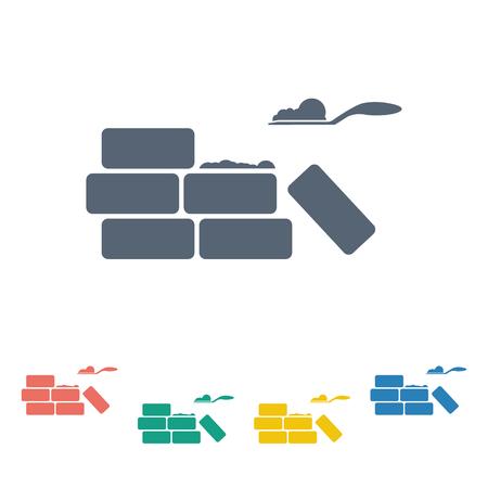 illustration of vector building modern icon in design Ilustrace
