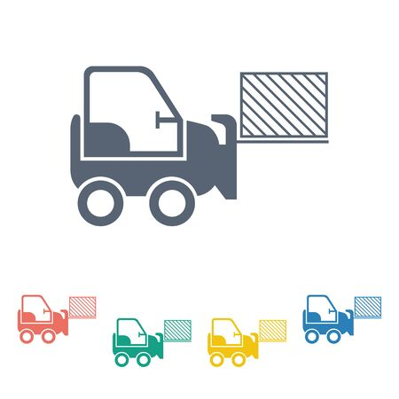 warehousing: illustration of vector building modern icon in design Illustration