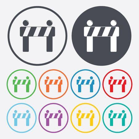 traffic barricade: illustration of vector building modern icon in design Illustration