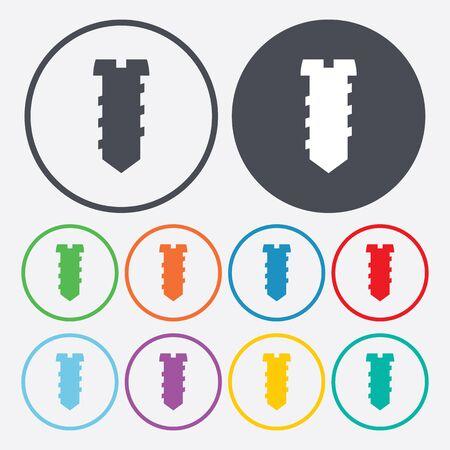 bolt head: illustration of vector building modern icon in design Illustration