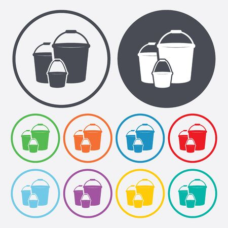 cleaning equipment: illustration of vector building modern icon in design Illustration
