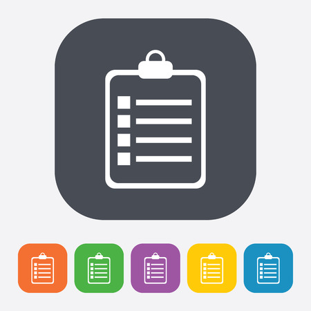document icon: vector illustration of business and finance icon plan note