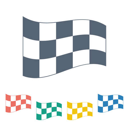 checker flag: illustration of business and finance icon flag