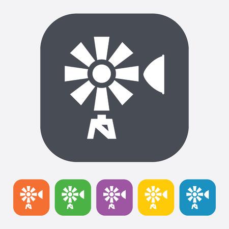 windpower: Vector illustration of modern farm icon
