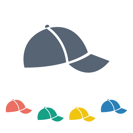 baseball cap: illustration of business and finance icon  cap