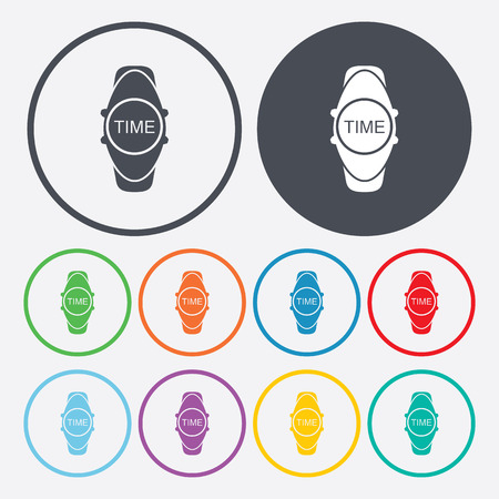 wristwatch: vector illustration of modern silhouette icon wristwatch