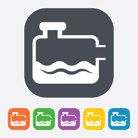 gas meter: Vector illustration of modern auto repair icon