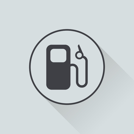 tanque de combustible: Ilustración vectorial de la moderna icono de reparación de automóviles Vectores