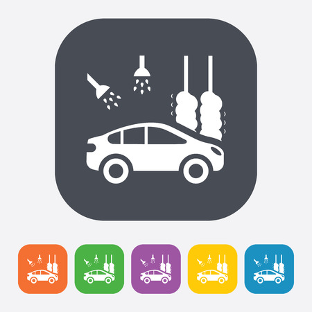 pictogram attention: Vector illustration of modern auto repair icon