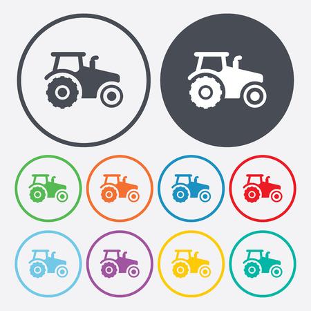 modern illustration: Vector illustration of modern farm icon