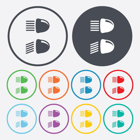 dipped: Vector illustration of modern auto repair icon