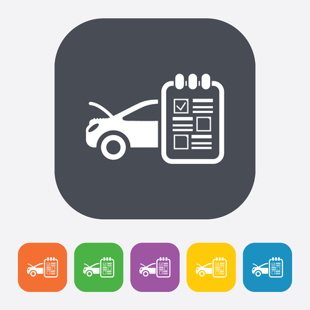 servicing: Vector illustration of modern auto repair icon