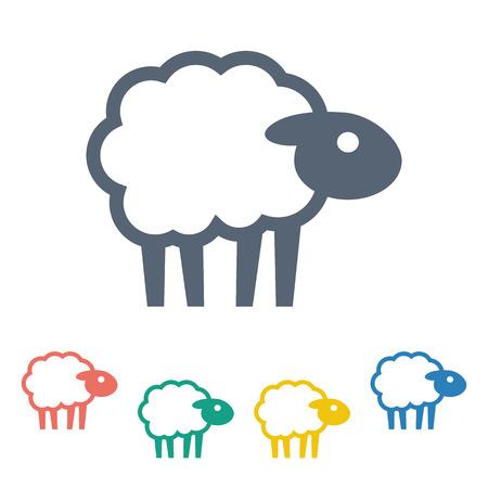 Vector illustratie van moderne boerderij icoon
