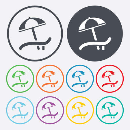 daybed: Vector illustration of travel and vacation icons