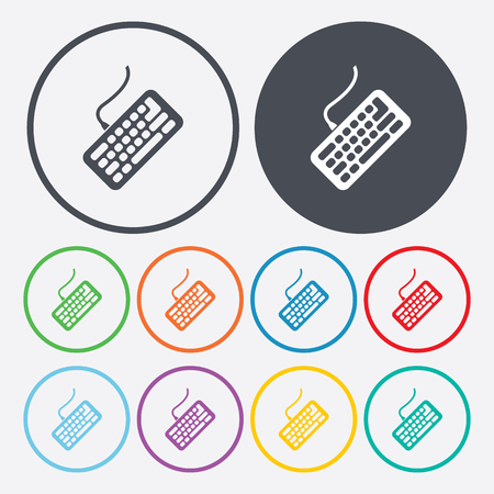 input device: Vector illustration of modern education icon