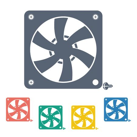 rotor: Vector illustration of modern auto repair icon