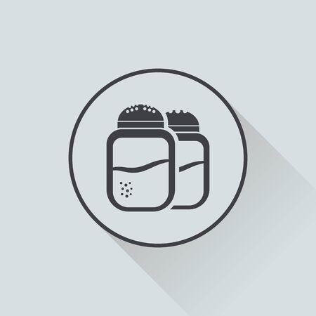 pepper grinder: Vector illustration of food icon