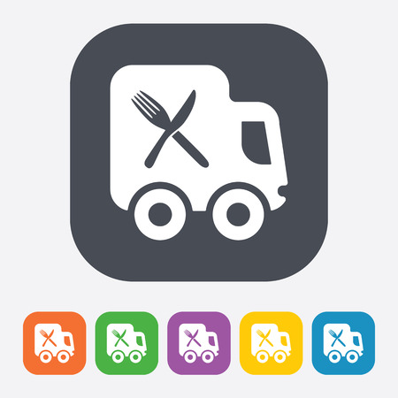 delivery icon: Vector illustration of food icon