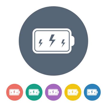 alkaline: vector illustration of computer technology modern icon
