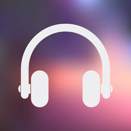 portable audio: vector illustration of computer technology modern icon
