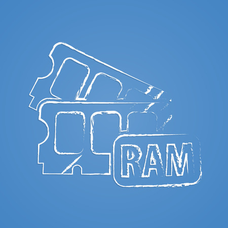 ddr: vector illustration of computer technology modern icon