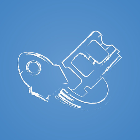 component parts: vector illustration of computer technology modern icon