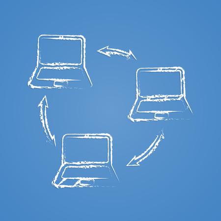 computer socket: vector illustration of computer technology modern icon
