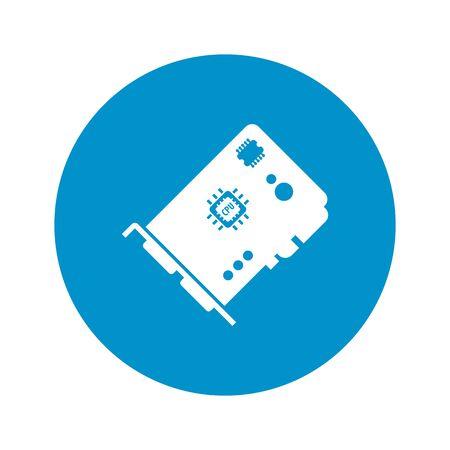 vga: vector illustration of computer technology modern icon