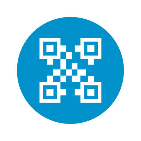 qrcode: vector illustration of computer technology modern icon