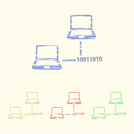 networking cables: vector illustration of computer technology modern icon