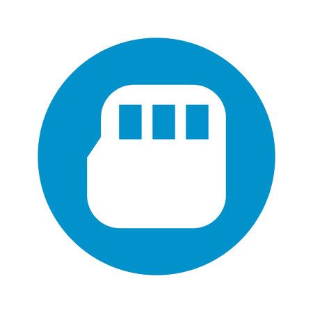 gigabyte: vector illustration of computer technology modern icon