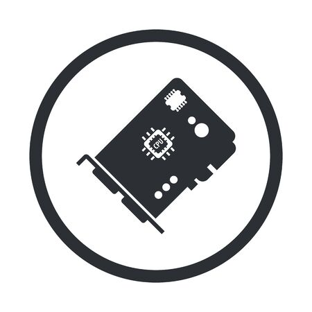 vga: vector illustration of computer technology modern icon