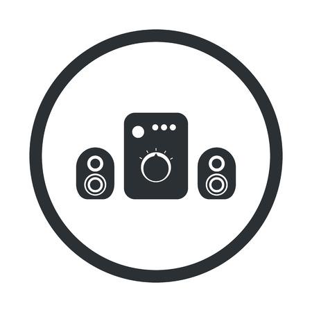 sonido: ilustraci�n vectorial de la tecnolog�a inform�tica icono moderno Vectores