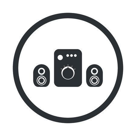 sound music: vector illustration of computer technology modern icon