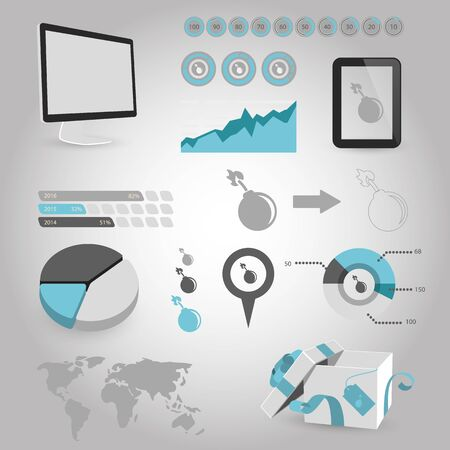 bomb threat: vector illustration of computer technology modern icon