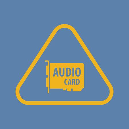 mainboard: vector illustration of computer technology modern icon