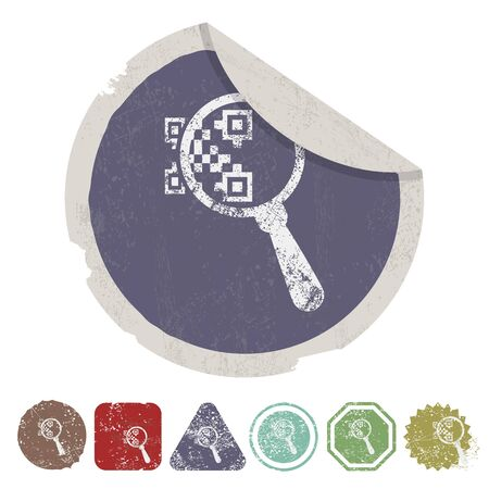 laser tag: vector illustration of computer technology modern icon
