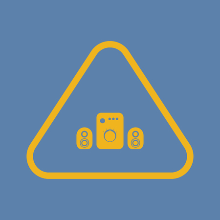 surround system: vector illustration of computer technology modern icon