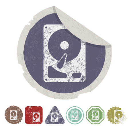 storage device: vector illustration of computer technology modern icon