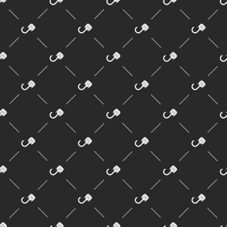 audio plug: vector illustration of computer technology modern icon