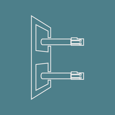 ethernet cable: vector illustration of computer technology modern icon