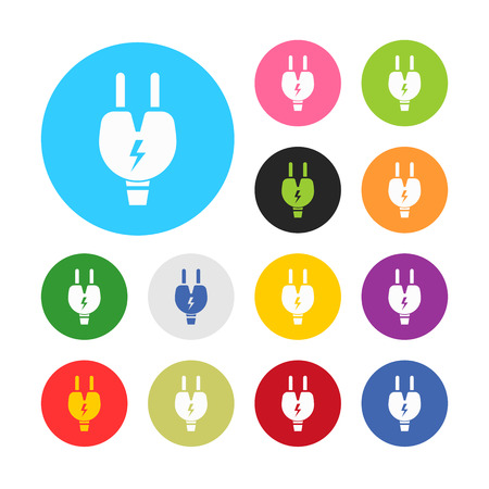 plug adapter: vector illustration of computer technology modern icon
