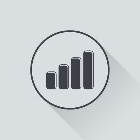 phone symbol: vector illustration of computer technology modern icon