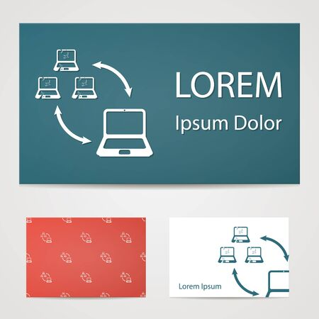 reverse: vector illustration of computer technology modern icon