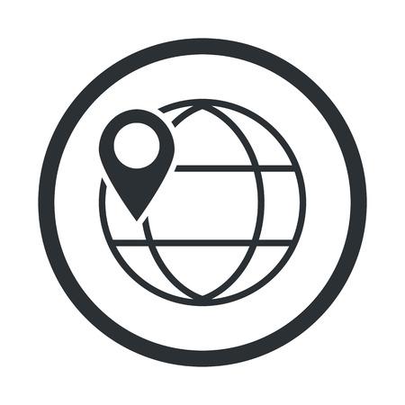 illustartion: Vector illustartion of  planet info icon Illustration