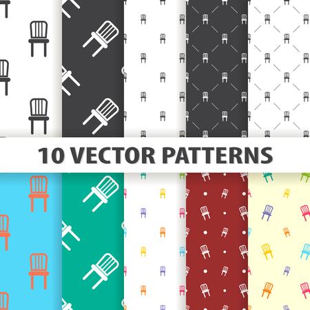 stools: Illustration of vector chair icon pattern Illustration