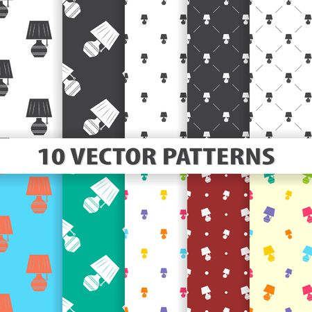 Illustration of vector lamp icon pattern