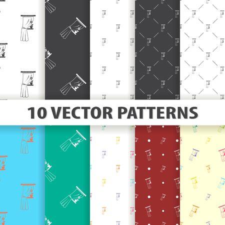 Illustration of vector curtain icon pattern