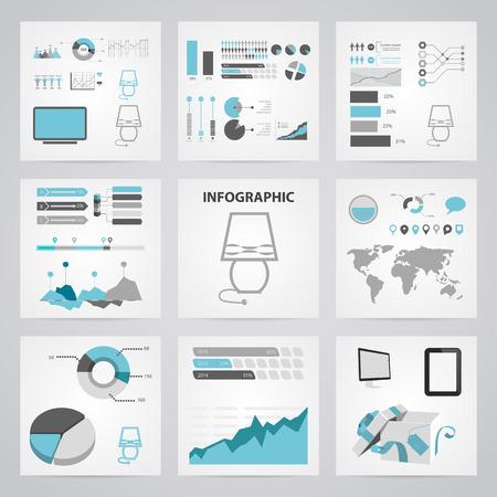 Illustration of vector lamp icon infographic Иллюстрация