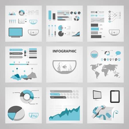 fishbowl: Illustration of vector aquarium icon infographic